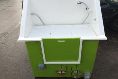 high back hydrobath - green